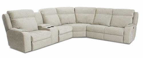 Two Piece Leather Reclining Sectional