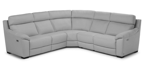 "Layout A: Five Piece Power Headrest Reclining Sectional - 114"" x 114"""