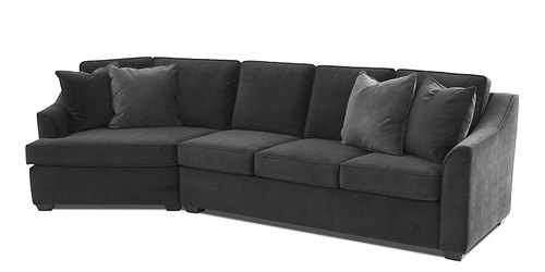 "Layout D: Two Piece Sectional (Cuddler Chair Left Side) 142"" Wide"