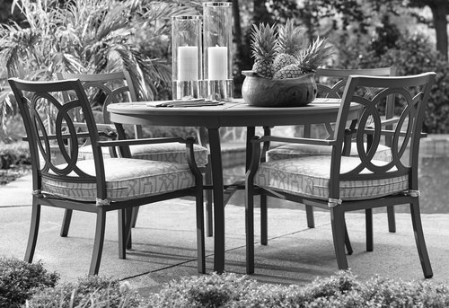 "Raleigh Outdoor 50"" Round 5 Piece Dining Set"