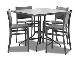 "Urban Retreat 36""  Square Bar Table 5 Piece Set"