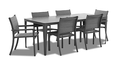 "Urban Retreat Rect Dining Table 79"" Set (7 Piece)"