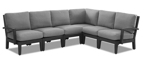 "Layout A: Six Piece Outdoor Sectional 109"" x 84"""
