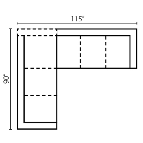 "Layout G: Two Piece Sectional 90"" x 115"""