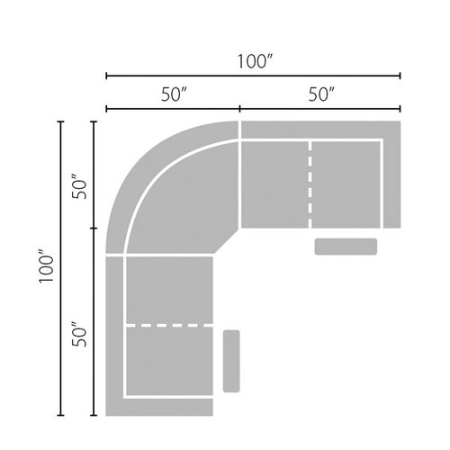 Layout A: Three Piece Reclining Sectional