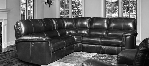 Hitchcock 5 PIece Cigar Leather Power Reclining Sectional