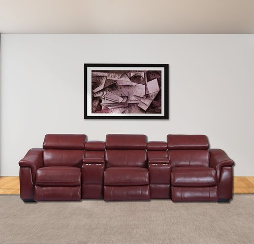 Parker Living Newton Crimson 5pc Leather Reclining Sectional