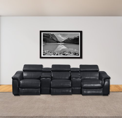 Parker Living Newton Cyclone 5pc Leather Power Reclining Sectional