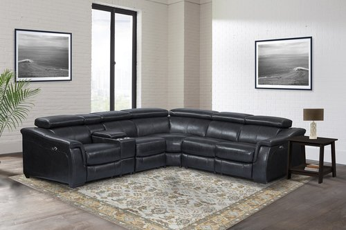 Parker Living Newton Cyclone 6pc Leather Power Reclining Sectional