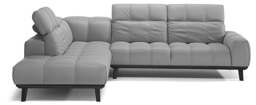 "Layout B:  Two Piece All Leather Sectional - 95"" x 116"""