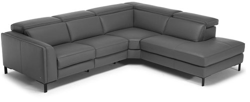 Abile Top Grain Reclining Leather Sectional