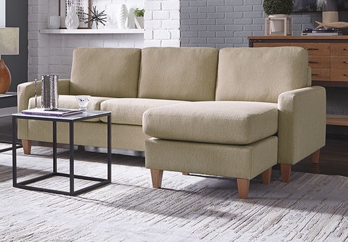 Emilia High Leg Chaise Sofa (Left or Right Side)
