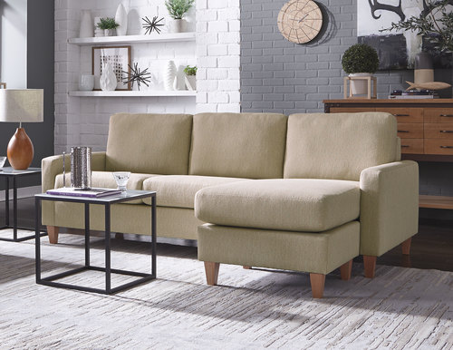 Emilia Low Leg Chaise Sofa (Left or Right Side)