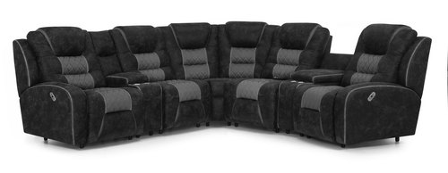 "Layout A:  Seven Piece Power Reclining Sectional 113"" x 113"""