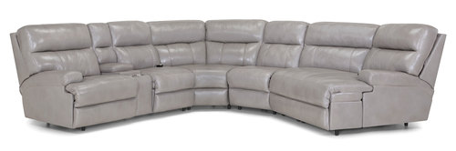 "Layout B: Four Piece Reclining Sectional (Piano Chaise Right Side) 106.5"" x 140"""