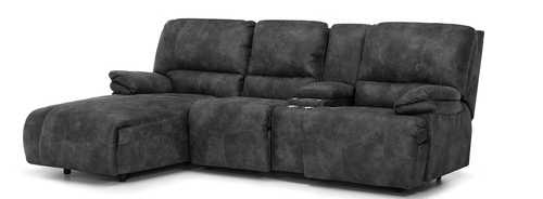 "Layout B: Two Piece Reclining Sectional (Power Chaise Left Side) 71"" x 108"""