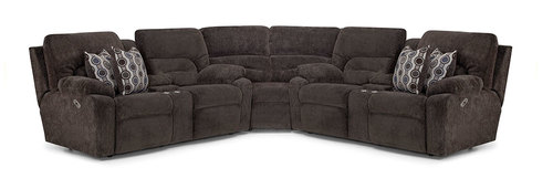Three Piece Power Headrest Reclining Sectional