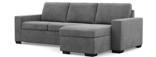 Bello Low Leg Chaise Sofa Sectional(Chaise Cushion works on Left or Right Side)