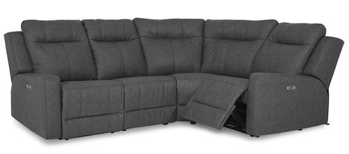 "Layout D: Four Piece Reclining Sectional 101"" x 76"""