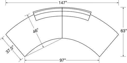 "Sectional Layout C:  Two Piece Sectional (147"" Wide)"
