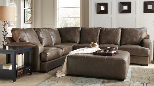 Includes Cocktail Ottoman : jackson leather sectional - Sectionals, Sofas & Couches