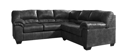 "Two Piece Sectional (93"" x 93"" Approximately) Features Left Facing Sofa"