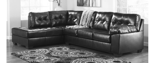 "Layout B:  Two Piece Left Facing Chaise Sectional (85"" x 121"")"