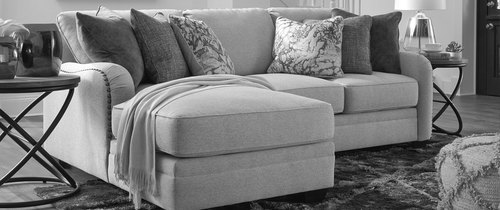 "Layout A:  Two Piece Sectional - Chaise Left Side - 58"" x 88"""