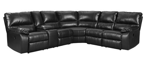 "Layout A:  Three Piece Reclining Sectional 104"" x 108"""