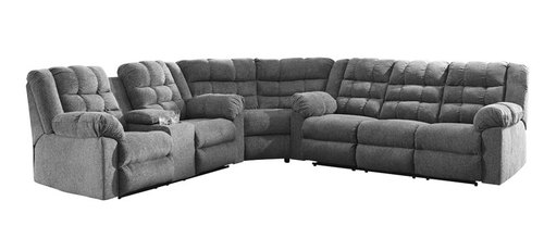 "Layout A:  Three Piece Reclining Sectional (129"" x 140"")"