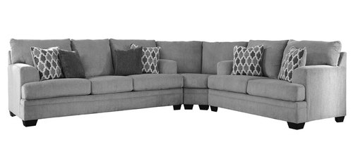 "Layout A:  Three Piece Sectional (107"" x 102"")"