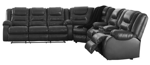 "Layout A:  Three Piece Reclining Sectional - 121"" x 114"""