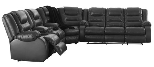 "Layout B:  Three Piece Reclining Sectional - 114"" x 121"""