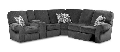 "Layout A:  Three Piece Reclining Sectional (98"" x 80"")"