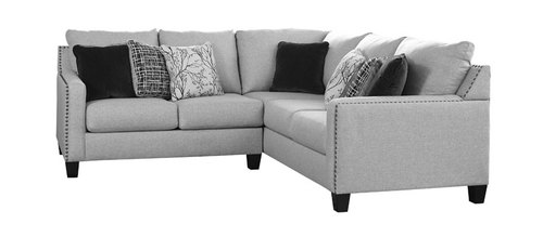 "Layout A:  Two Piece Sectional (93"" x 92"")"