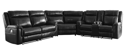 "Layout A:  Three Piece Power Reclining Sectional  - 112"" x 97"""