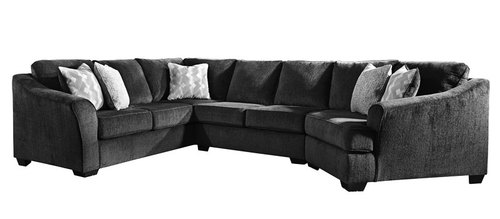 "Layout C: Three Piece Sectional (Cuddler Right Side) 97"" x 147"""