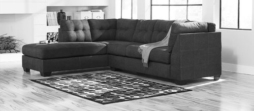 "Layout A:  Two Piece Sectional (Chaise Left Side) 88"" x 117"""