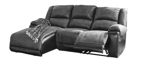 "Layout B: Three Piece Reclining Sectional (Chaise Left Side) 63"" X 94"""