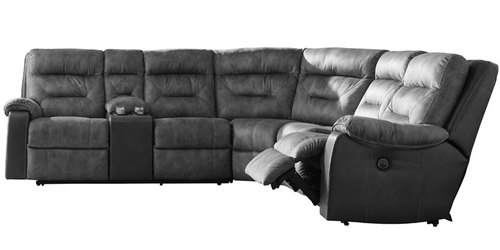 "Layout A:  Four Piece Reclining Sectional - 121"" x 109"""