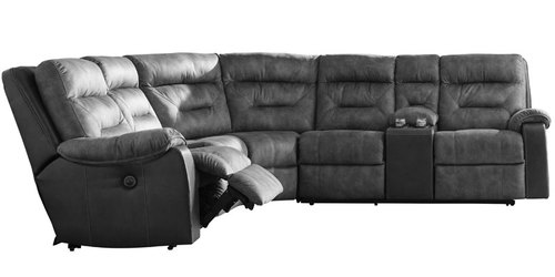 "Layout B:  Four Piece Reclining Sectional - 109"" x 121"""