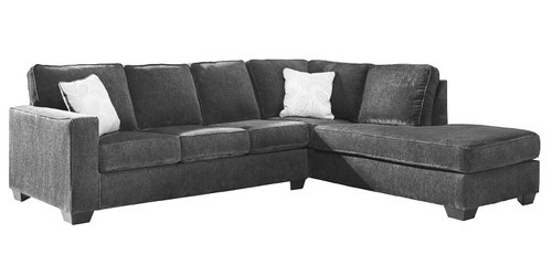 "Layout B:  Two Piece Sectional (Chaise Right Side) 110"" x 90"""