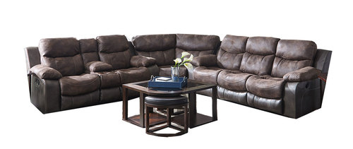 Phenomenal Henderson Two Tone Reclining Sectional In Sofas And Sectionals Caraccident5 Cool Chair Designs And Ideas Caraccident5Info