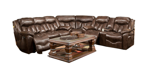 "Layout A Three Piece Sectional 122"" x 111"""