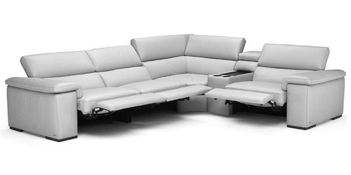"Layout A: Five Piece Reclining Sectional w/ Console 129"" x 111"""