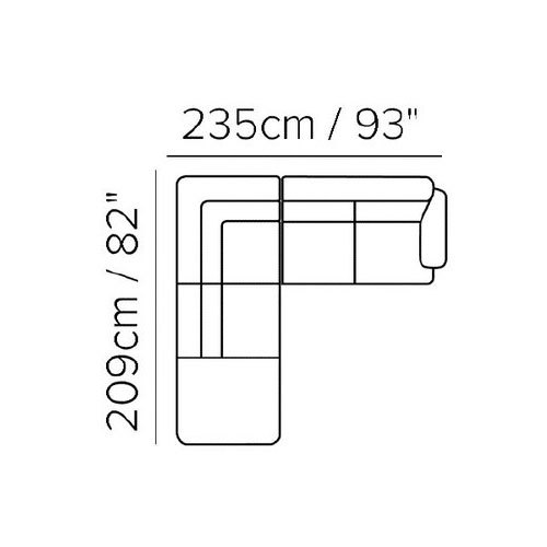 "Layout D:  Two Piece Sectional  - 82"" x 93"""