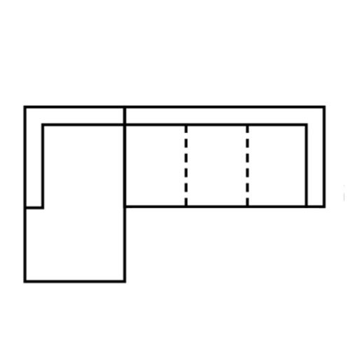 "Layout C: Two Piece Sectional (Chaise Left Side) - 64"" x 111"""