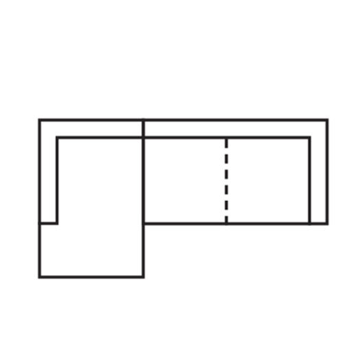 "Layout C:  Two Piece Chaise Sectional (Chaise Left Side) - 65"" x 93"""