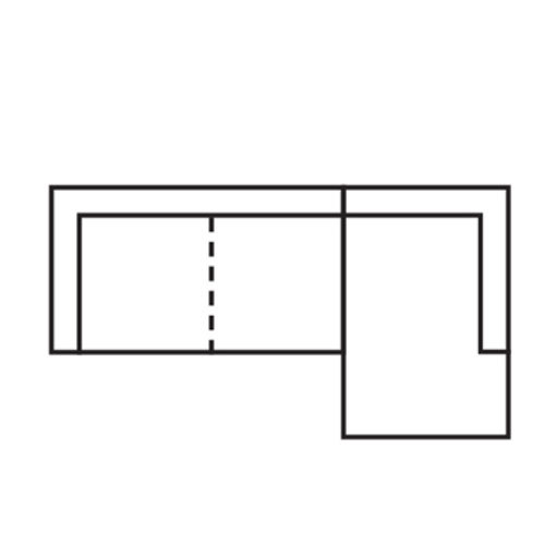 "Layout B:  Two Piece Sectional (Chaise Right Side) - 108"" x 62"""