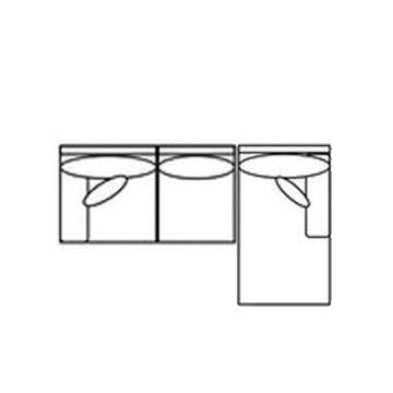 "Layout B: Two Piece Sectional 110"" x 66"""